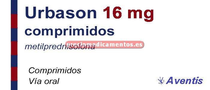Caja URBASON 16 mg 30 comprimidos