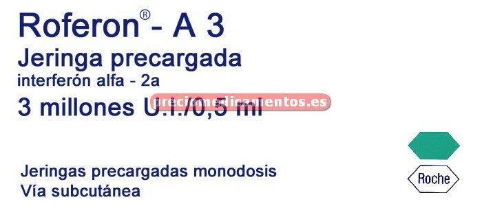 Caja ROFERON A 3 MILL 6 jeringas precargadas 0,5 ml
