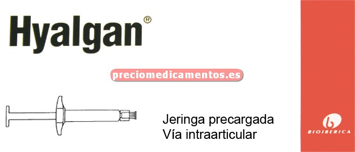 Caja HYALGAN 20 mg 1 jeringa precargada 2 ml