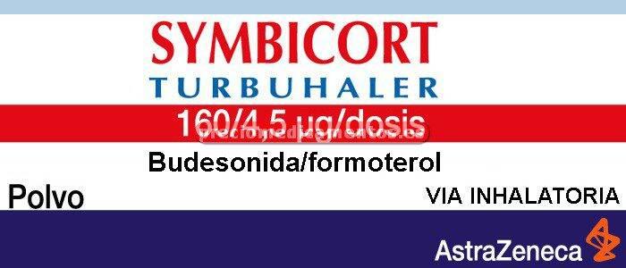 Caja SYMBICORT TURBUHALER 160/4.5 mcg/dosis polvo 1 inhalador 120 dosis