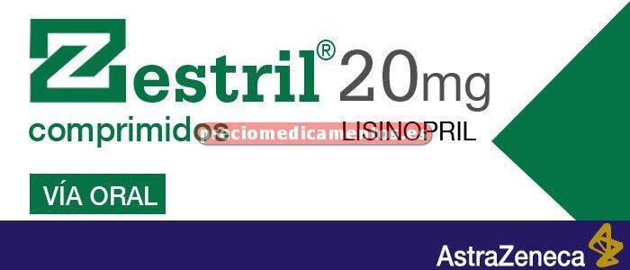 Caja ZESTRIL 20 mg 28 comprimidos