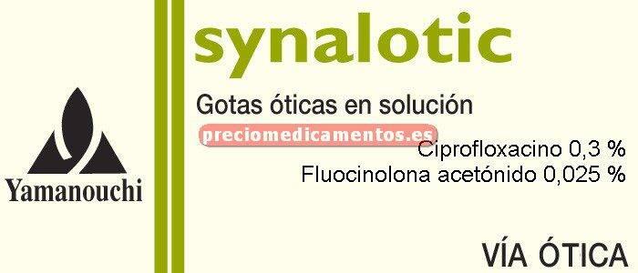 Caja SYNALOTIC 0,3/0,025% gotas óticas 10 ml