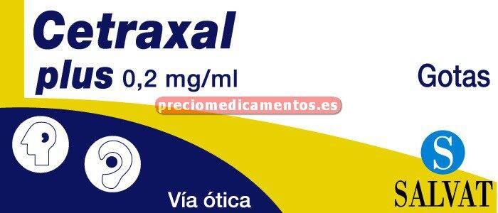 Caja CETRAXAL PLUS 0,3/0,025% gotas óticas 10 ml