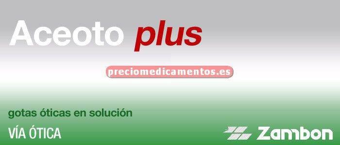 Caja ACEOTO PLUS 0,3/0,025% gotas óticas solución 10 ml