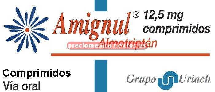 Caja AMIGNUL 12,5 mg 4 comprimidos cubierta pelicular