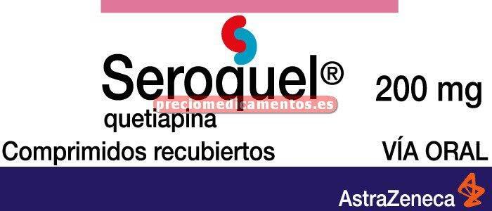 Caja SEROQUEL 200 mg 60 comprimidos recubiertos