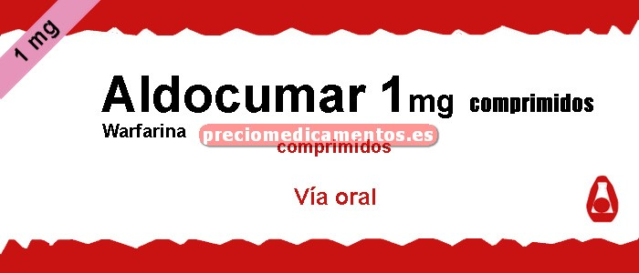 Caja ALDOCUMAR 1 mg 40 comprimidos