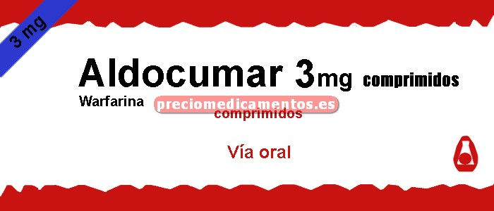 Caja ALDOCUMAR 3 mg 40 comprimidos