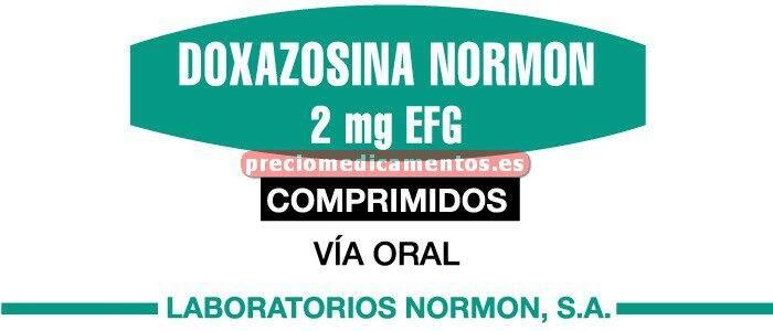 Caja DOXAZOSINA NORMON EFG 2 mg 28 comprimidos