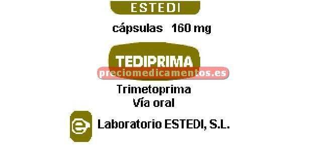 Caja TEDIPRIMA 160 mg 16 cápsulas