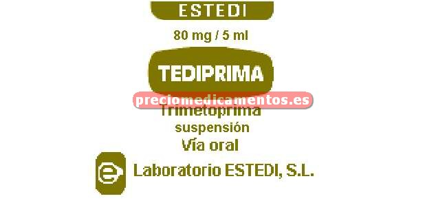Caja TEDIPRIMA 80 mg/5 ml suspensión 100 ml