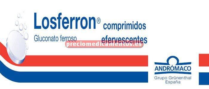 Caja LOSFERRON 695 mg (80 mg Fe) comprimidos efervesc