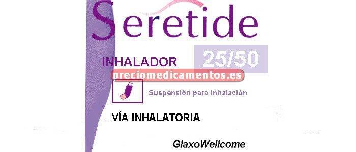 Caja SERETIDE 25/50 mcg/pulsación aerosol 120 dosis