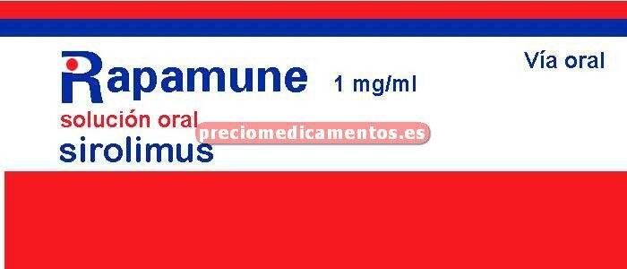 Caja RAPAMUNE 1 mg/ml solución 60 ml