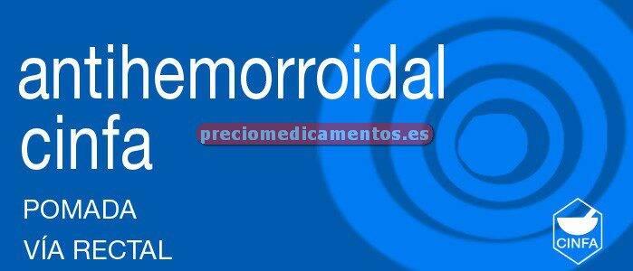 Caja ANTIHEMORROIDAL CINFA pomada rectal 30 g
