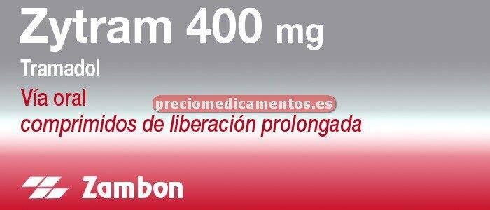 Caja ZYTRAM 400 mg 28 comprimidos liberación controlada