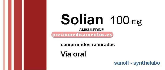 Caja SOLIAN 100 mg 60 comprimidos