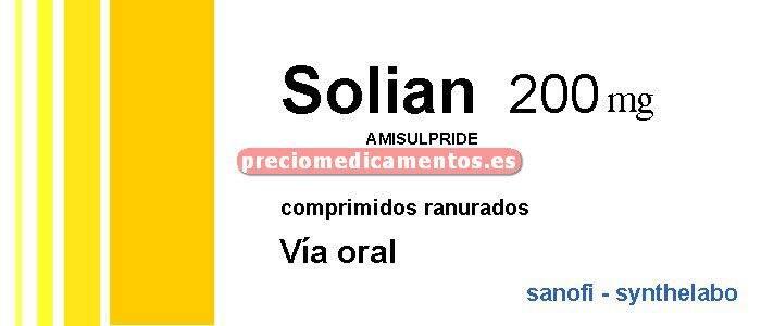 Caja SOLIAN 200 mg 60 comprimidos