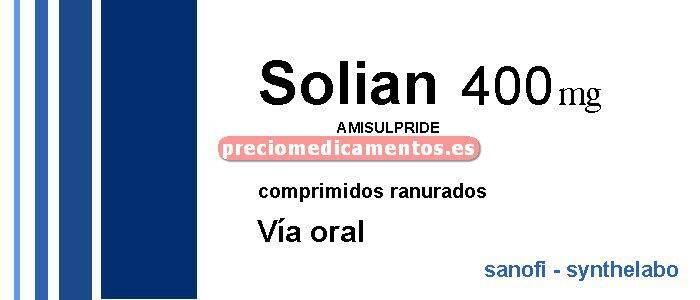 Caja SOLIAN 400 mg 60 comprimidos