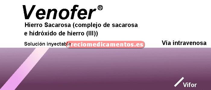 Caja VENOFER 20 mg/ml 5 ampollas 5 ml