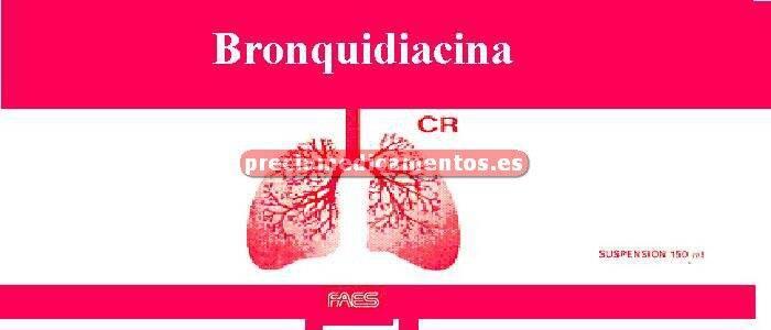 Caja BRONQUIDIAZINA CR suspensión 150 ml