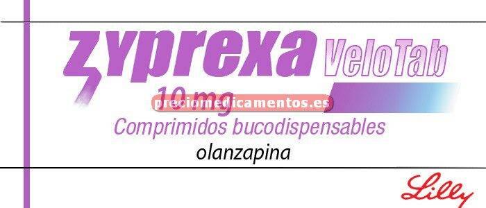 Caja ZYPREXA VELOTAB 10 mg 28 comprimidos bucodispers