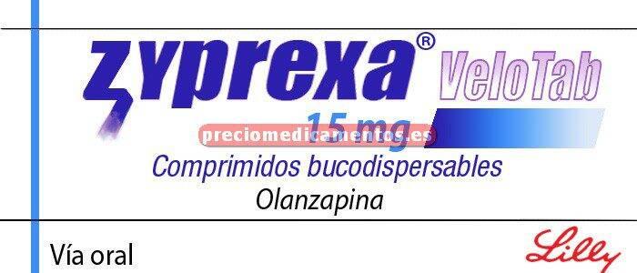 Caja ZYPREXA VELOTAB 15 mg 28 comprimidos bucodispers