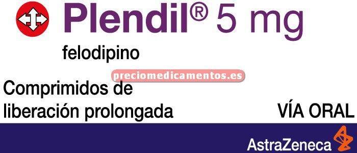 Caja PLENDIL 5 mg 30 comprimidos liberación prolongada
