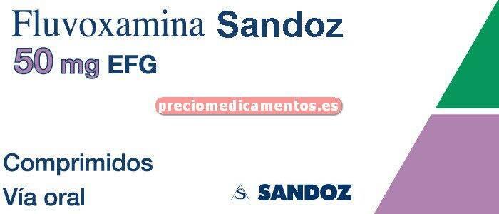 Caja FLUVOXAMINA SANDOZ EFG 50 mg 20 comprimidos recub