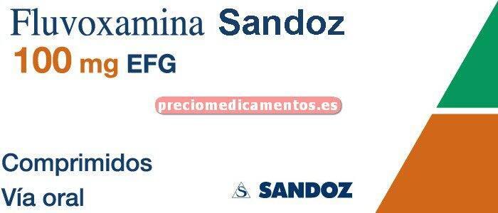 Caja FLUVOXAMINA SANDOZ EFG 100 mg 20 comprimidos recub