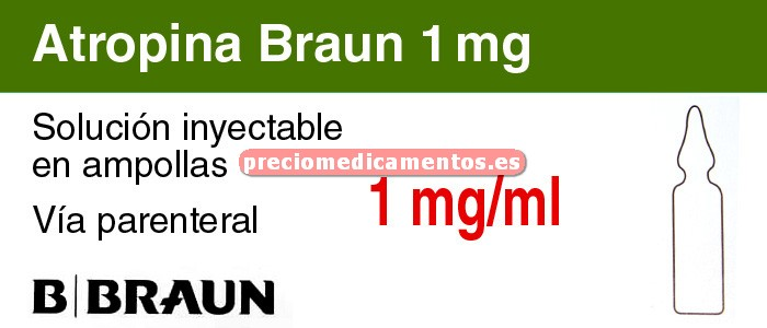 Caja ATROPINA BRAUN 1 mg 10 ampollas 1 ml