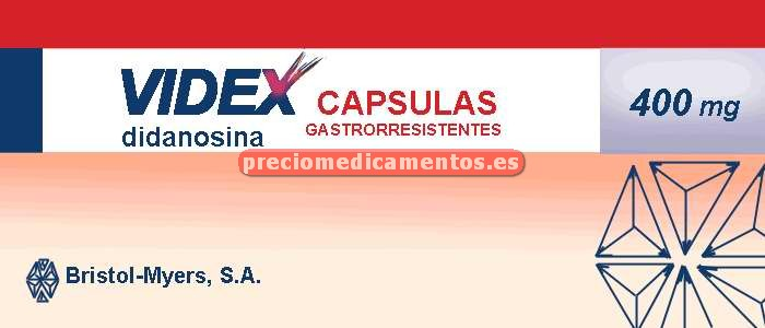 Caja VIDEX 400 mg 30 cápsulas