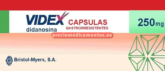 Caja VIDEX 250 mg 30 cápsulas