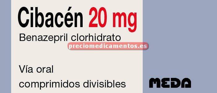 Caja CIBACEN 20 mg 28 comprimidos
