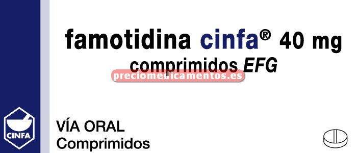 Caja FAMOTIDINA CINFA EFG 40 mg 10 comprimidos recub