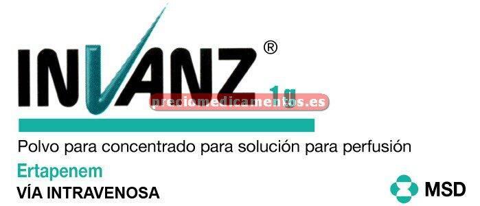 Caja INVANZ 1 g 1 vial polvo solución para perfusión