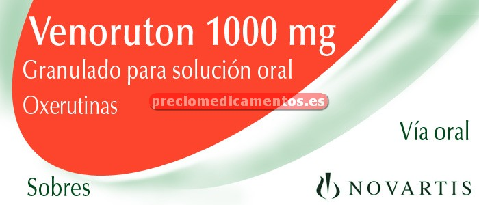Caja VENORUTON 1000 mg 30 sobres granulado NARANJA