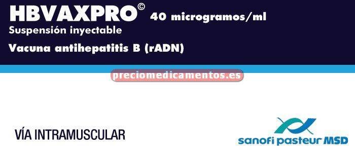 Caja HBVAXPRO 40 mcg 1 vial 1 ml