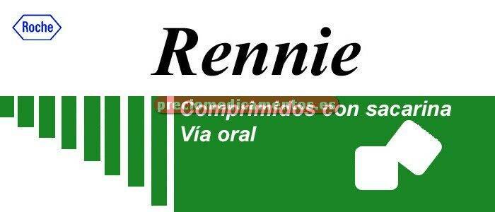 Caja RENNIE 48 comprimidos masticables con sacarina