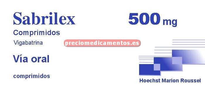 Caja SABRILEX 500 mg 100 comprimidos recubiertos
