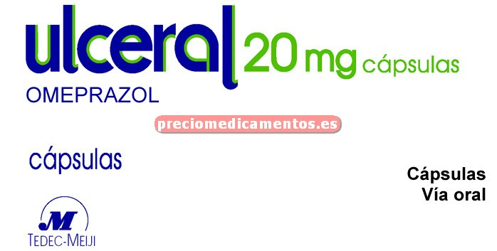 Caja ULCERAL 20 mg 14 cápsulas