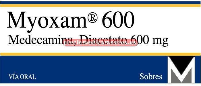 Caja MYOXAM 600 mg 12 sobres