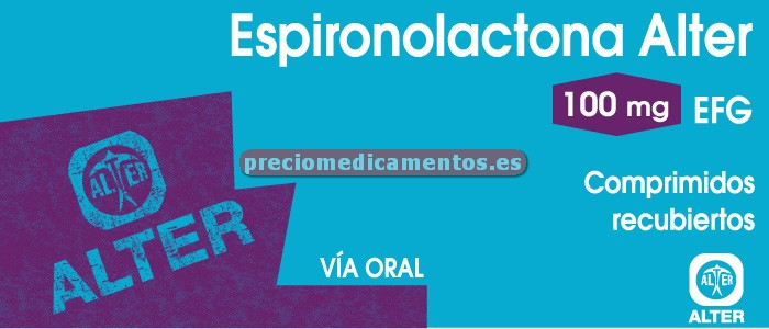 Caja ESPIRONOLACTONA ALTER EFG 100 mg 20 comprimidos