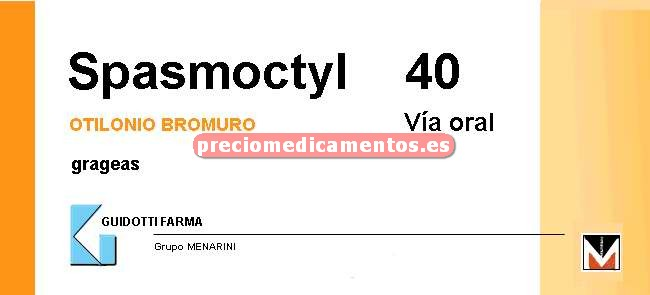 Caja SPASMOCTYL 40 mg 60 grageas