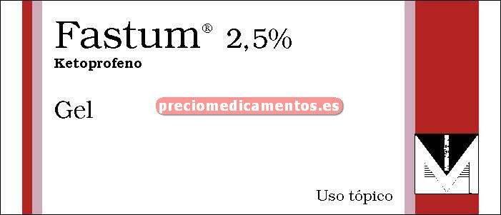 Caja FASTUM GEL 2.5% gel 60 g