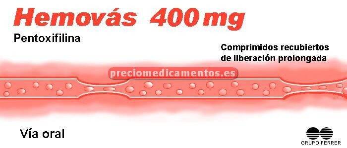 Caja HEMOVAS 400 mg 60 grageas