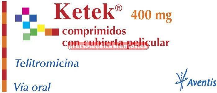Caja KETEK 400 mg 10 comprimidos cubierta pelicular