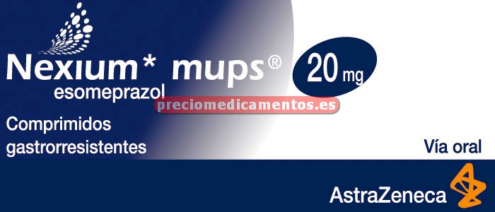 Caja NEXIUM MUPS 20 mg 28 comprimidos gastrorresist