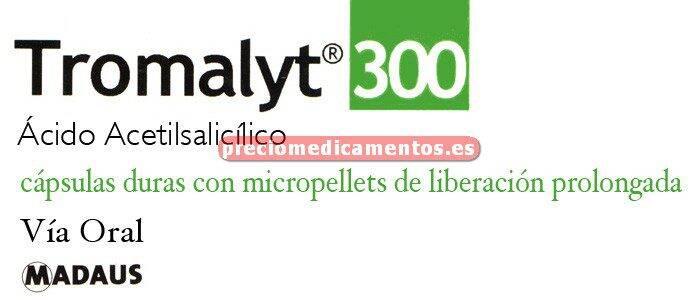 Caja TROMALYT 300 mg 28 cápsulas micropellets lib prol