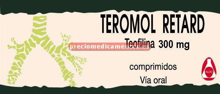 Caja TEROMOL RETARD 300 mg 40 comprimidos lib control